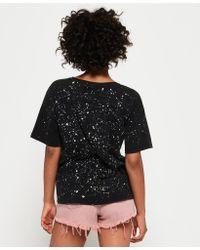 Superdry Black Radical Boyfriend T-shirt