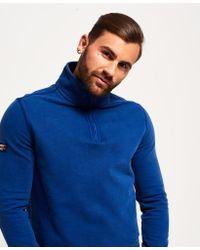 Superdry - Blue International Henley Top for Men - Lyst
