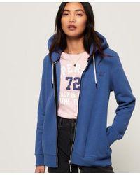 Superdry Blue Orange Label Elite Zip Hoodie