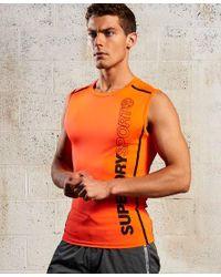 Camiseta sin mangas Sport Athletic Superdry de hombre de color Orange