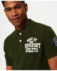 Superdry Green Classic Superstate Polo Shirt for men