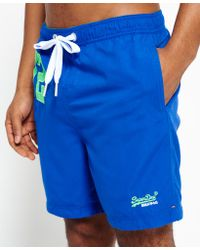 Superdry | Blue Premium Water Polo Shorts for Men | Lyst
