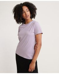 Superdry Purple Orange Label Elite Crew Neck T-shirt