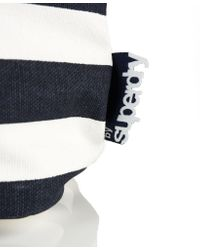 Superdry White Summer Time Tote Bag