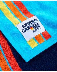 Superdry Blue Sun & Surf Beach Towel