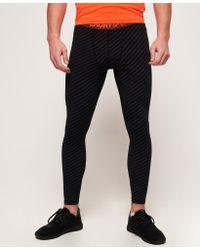 Superdry Gray Active Reflective Leggings for men