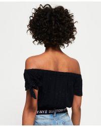 Superdry Blue Amiee Bardot Top
