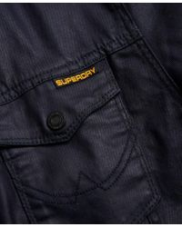 Superdry Blue Denim Biker Jacket for men