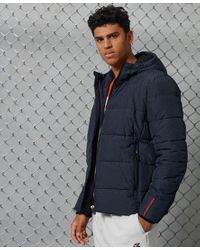 Superdry Blue Sports Puffer Jacket for men