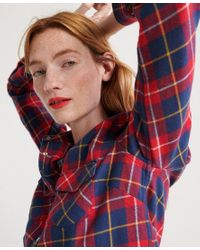 Superdry Red Bailey Western Check Shirt