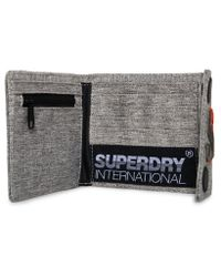 Superdry - Gray Motion Montana Wallet for Men - Lyst