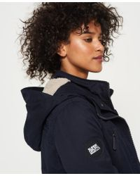 Superdry - Blue Boxy Snorkle Hooded Wind Parka Jacket - Lyst