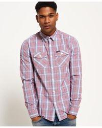 Superdry - White Washbasket Long Sleeve Shirt for Men - Lyst