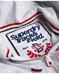 Superdry Gray Track & Field Zip Hoodie