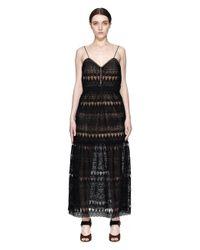 Черное Платье Из Кружева На Бретелях Self-Portrait, цвет: Black