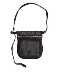 Guidi - Black Leather Zipped Waist Bag - Lyst