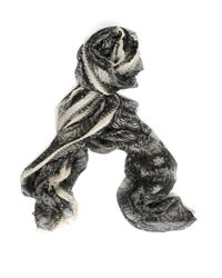 Faliero Sarti - Gray Cashmere And Modal Scarf - Lyst