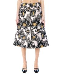 Marni - Black Polyester Skirt - Lyst