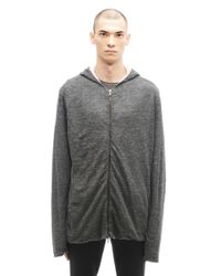 Transit Uomo - Gray Linen And Cotton Hoodie for Men - Lyst