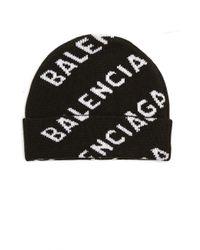Серая Шапка All Over Logo Balenciaga, цвет: Green