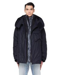 The Viridi-anne Black Layered Down Puffer Jacket for men