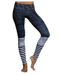 Onzie | Blue Graphic Long Legging Levels | Lyst