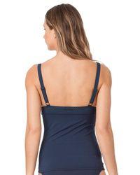 Anne Cole - Blue Laser Dot Ots Banded Keyhole Tankini Swimsuit - Lyst