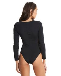 Seafolly Black Active Multi Strap One Piece Swimsuit