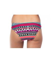 Bikini Lab - Blue Juniors Thread Light Special Wide Cheeky Hipster Swim Bottom - Lyst