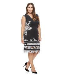 Tadashi Shoji Black Tani Dress - Plus Size