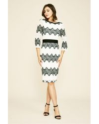 Tadashi Shoji Multicolor Steffi Mid-sleeve Lace Dress