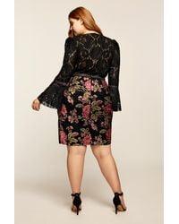 Tadashi Shoji - Black Isabella Dress - Plus Size - Lyst