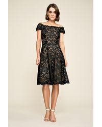 8705691dcfcc8 Lyst - Tadashi Shoji Elidi Off-the-shoulder Lace Dress in Black