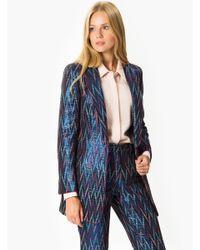 Roman Blue Zig-zag Pattern Jacket