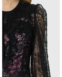 Roman Black Lace Midi Dress
