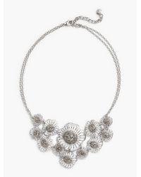 Talbots Metallic Filigree Petal Statement Necklace