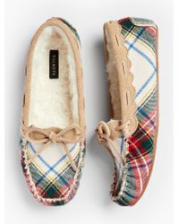 Talbots - Multicolor Ruby Moccasin Slippers - Tartan Plaid - Lyst