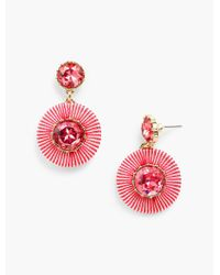 Talbots - Multicolor Thread-wrap Circle Earrings - Lyst