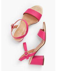 Talbots Pink Bettie Soft Nappa City Sandals