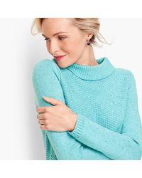Talbots Blue Textured Sabrina Sweater