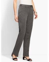 Talbots - Gray Refined Bi-stretch Barely Boot - Lyst