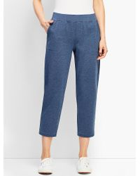 Talbots Blue Essential Terry Straight-leg Crop