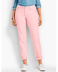 Talbots - Pink The Flawless Five-pocket Boyfriend-color - Lyst