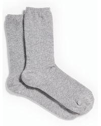 Talbots - Gray Melange Trouser Socks - Lyst