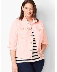 Talbots Pink Classic Jean Jacket