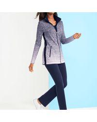 Talbots Blue Ombre Stripe Jacket