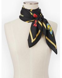 Talbots Multicolor Collector's Garden Scarf