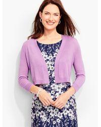 Talbots - Purple Classic Dress Shrug - Lyst