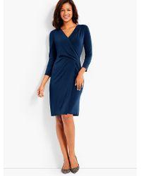 Talbots - Blue Bella Faux-wrap Sheath Dress - Lyst