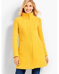 Talbots - Yellow Stand-collar Coat - Lyst
